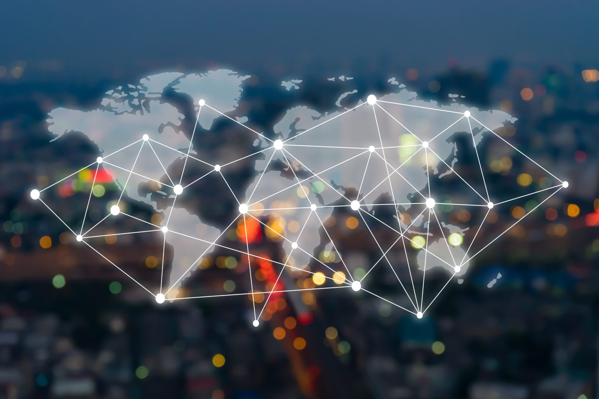 Big data connections. IOT - internet of things