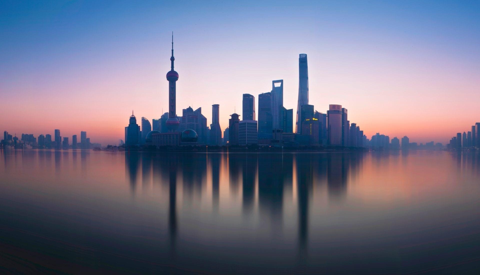 View of shanghai town